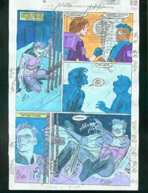 ORIGINAL D.C. COLOR GUIDE ROBIN ANNUAL #2 PG 46-SIGNED VG