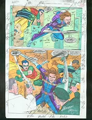 ORIGINAL D.C. COLOR GUIDE ROBIN ANNUAL #2 PG 53-SIGNED VG