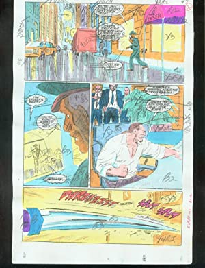 ORIGINAL D.C. COLOR GUIDE ROBIN ANNUAL #2 PG 56-SIGNED VG