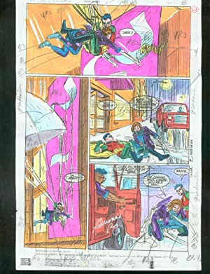 ORIGINAL D.C. COLOR GUIDE ROBIN ANNUAL #2 PG 62-SIGNED VG
