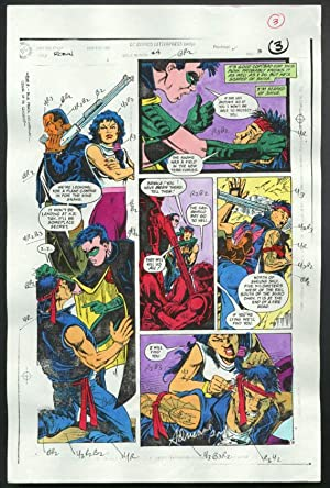 ROBIN #4-1990 PRODUCTION ART-COLOR GUIDE PG 3-TOM KYLE VG