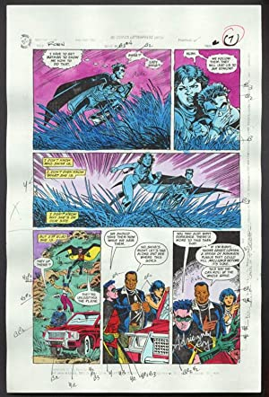 ROBIN #4-1990 PRODUCTION ART-COLOR GUIDE PG 5-TOM KYLE VG
