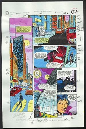 ROBIN #4-1990 PRODUCTION ART-COLOR GUIDE PG 7-TOM KYLE VG