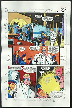 ROBIN #4-1990 PRODUCTION ART-COLOR GUIDE PG 8-TOM KYLE VG
