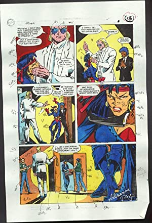 ROBIN #4-1990 PRODUCTION ART-COLOR GUIDE PG 9-TOM KYLE VG