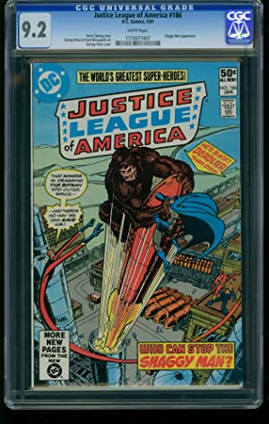 Justice League of America #186 1981--CGC Graded 9.2 White Pages 1173077007