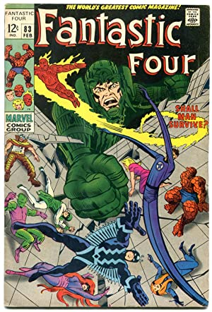 FANTASTIC FOUR #83 comic book 1969- DR. DOOM-THING-JACK KIRBY fn