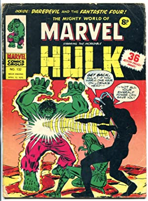 Mighty World Of Marvel #132-British- Hulk- Fantastic Four VG