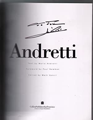 Andretti 1994-Collins-1st edition-autographed by Mario-Paul Newman-VG/FN