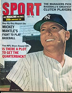 Sport 7/1966-Mickey Mantle-New York Yankees-NFL-photos-info-VF
