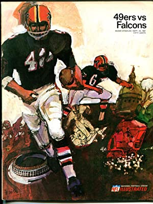 San Francisco 49ers NFL Football Program-Atlanta Falcons-9/24/1967-pix-G/VG