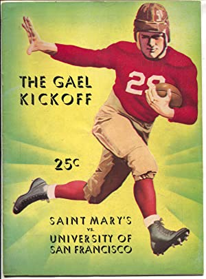 St Mary's College vs Univ. of San Fran. NCAA Football Game Program 10/27/37-VF