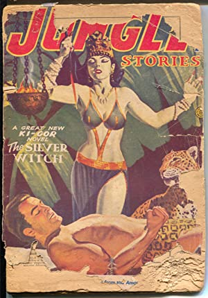 Jungle Stories-Spring 1953-Ki-gor-hero pulp-Fiction House-P
