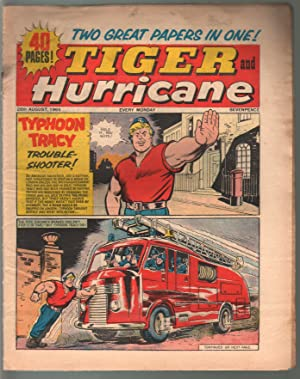 Tiger and Hurricane 8/28/1965-Johnny Cougar-Val Venture-British-G/VG