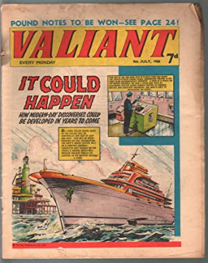 Valiant 7/9/1966-Silver Age British comic book-sci-fi-action-adventure-G