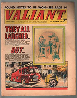 Valiant 9/20/1967-Silver Age British comic book-sci-fi-action-adventure-G