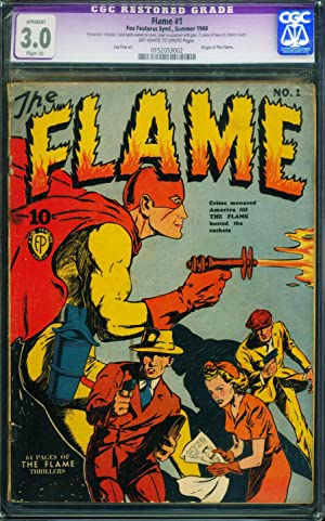 THE FLAME #1 CGC 3.0 Slight (A) 1940 Fox Golden-Age comic book 0152053002