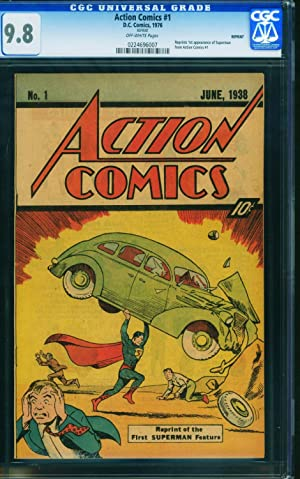 Action #1 1976 cgc Graded 9.8 1st Superman-rare SLEEPING BAG Reprint 0224696007
