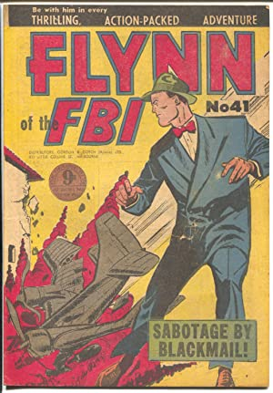 Flynn of The FBI #41 1950's-plane crash cover-foreign comic-VG