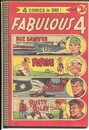 Fabulous 4 #7 1950's-Page-Giant Edition-Buz Sawyer-Popeye-Rusty Riley-VF