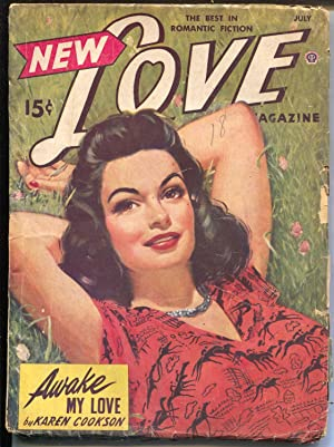 New Love 7/1943-Popular-pulp romance-exotic GGA cover-Peggy Gaddis-VG