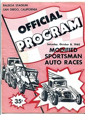 Balboa Stadium Race Program October 8 1960- Modified Sportsman
