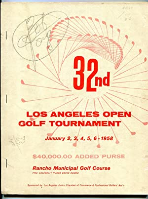 32nd Los Angeles Open Golf Tournament Media Guide- January 1958