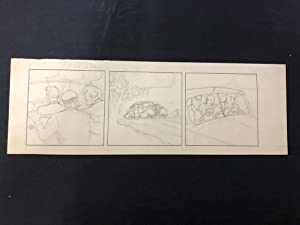Unpublished Joe Palooka --Original Comic Strip Art -Pencils Only