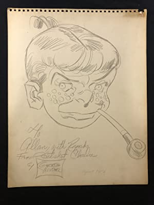 Hotshot Charlie Sketch by George Wunder April 1952- Terry & the Pirates