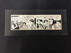 Ella Cinders Original Newspaper Comic Strip Art June 19 1956