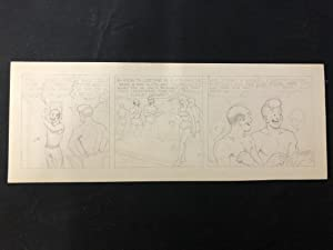Unpublished Joe Palooka Original Comic Strip Art Pencils Only