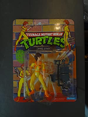 PLAYMATES TEENAGE MUTANT NINJA TURTLES-APRIL O'NEIL-MIB-1990