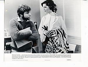 Rollover-Producer Bruce Gilbert-Jane Fonda-8x10-B&W-Still