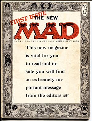 MAD MAGAZINE #24-1st ISSUE NEW FORMAT-KRIGSTEIN-EC-Key Issue!