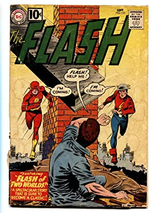 Flash #123 DC comic book 1967 First Earth II golden-age Flash Silver-Age