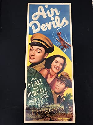 Air Devils Original Insert Movie Poster 1938 Dick Purcell