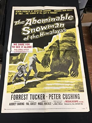 Abominable Snowman of the Himalayas One Sheet Poster 1957 Cushing Hammer Horror