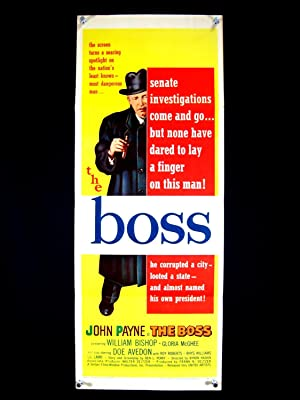 THE BOSS-FILM NOIR-JOHN PAYNE-1956-ORIG INSERT-NM NM