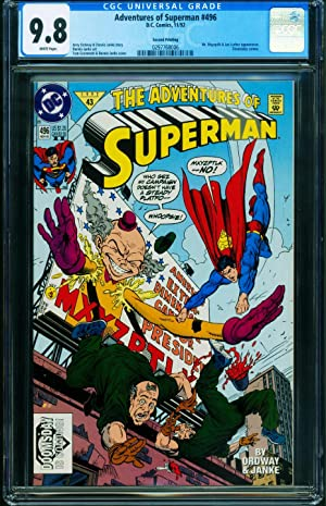 Adventures of Superman #496-2nd Print variant CGC 9.8-Doomsday DC 0297768006