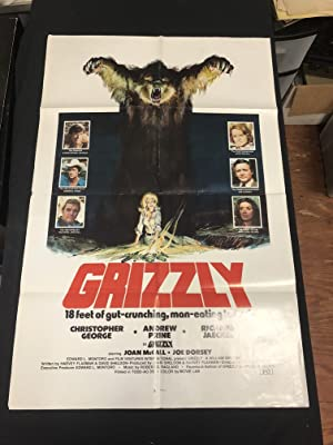 Grizzly One Sheet Poster 1976- NEAL ADAMS ART- Christopher George