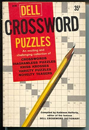 Dell Crossword Puzzles B149 1960-puzzles not worked-paperback-great spine-FN-