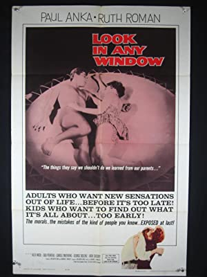 LOOK IN ANY WINDOW-POSTER-PAUL ANKA-TEENSPLOITATION FN
