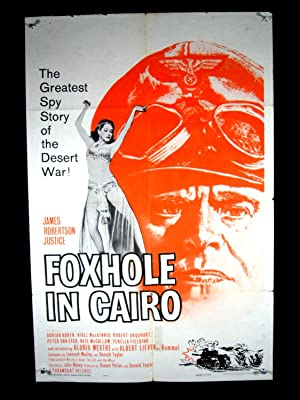 FOXHOLE IN CAIRO-1960-POSTER-ADRIAN HOVEN-DRAMA-WAR VG