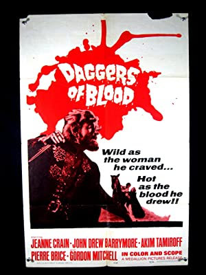 DAGGERS OF BLOOD-1964-POSTER-JEANNE CRAIN-ADVENTURE G