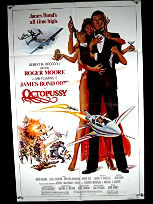 OCTOPUSSY-1982-27X41 POSTER-ROGER MOORE-ADVENTURE EX