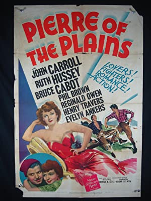 PIERRE OF THE PLAINS-1942-POSTER-JOHN CARROLL-DRAMA P/FR