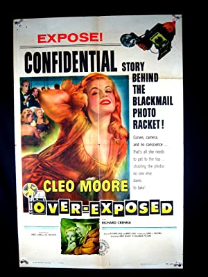 OVER EXPOSED-1956-POSTER-CLEO MOORE-DRAMA VG/FN