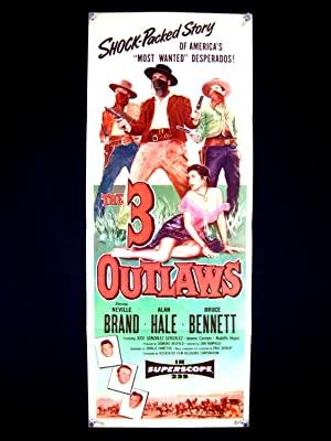 THE THREE OUTLAWS-INSERT-1956-NEVILLE BRAND-GREAT IMAGE VF