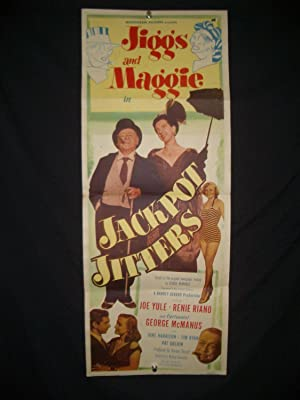 JIGGS AND MAGGIE IN JACKPOT JITTERS-INSERT POSTER-1949 VG