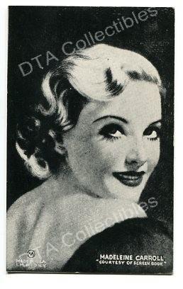 MADELINE CARROLL-MUTOSCOPE ARCADE CARD-1940 G